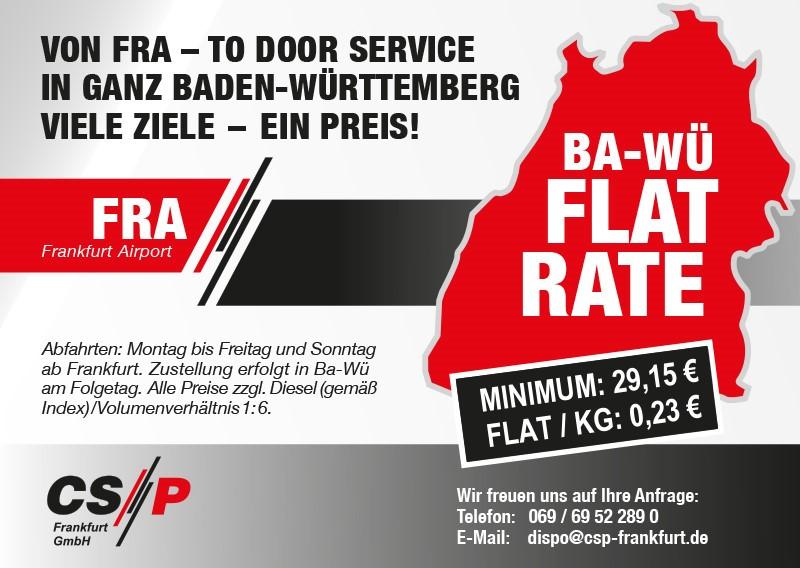 CSP Angebot: von Frankfurt nach überall in Baden-Württemberg sooo günstig!